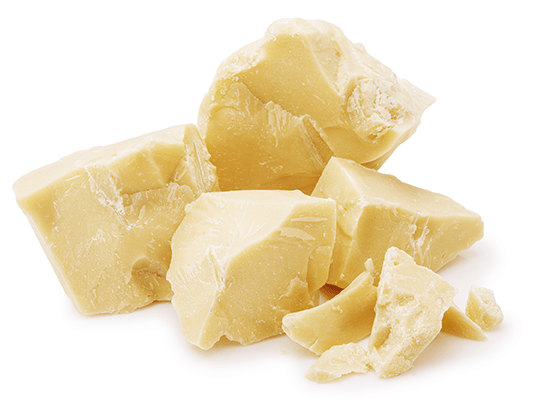 Chunks of cocoa butter